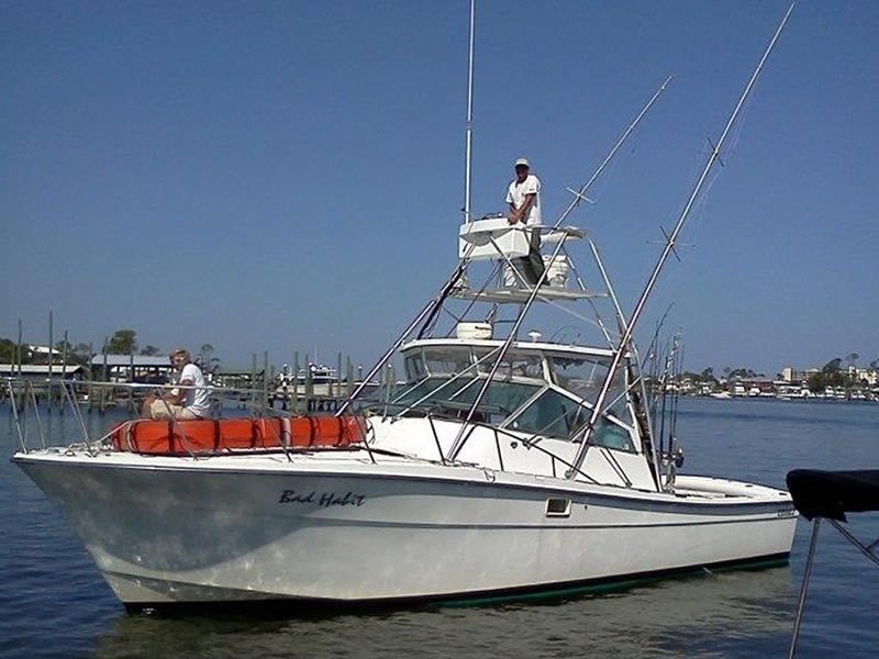 Pictured: Bad Habit/Capt. Tyler Arnold.   Please visit our website to see all the available inshore and offshore boats.