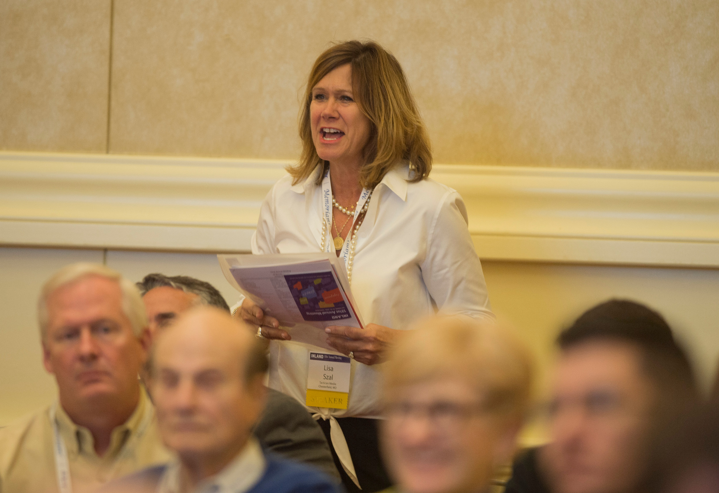 Lisa Szal, VP of Business Development, Tactician Media at the 131st Annual Meeting of Inland Press Association.