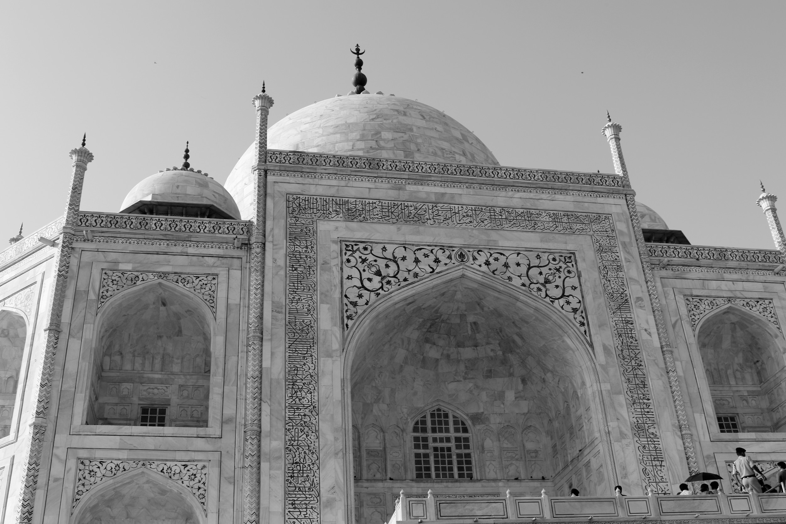 This photo of the Taj Mahal is the image for the Print Quality Competition's Black and White Division.
