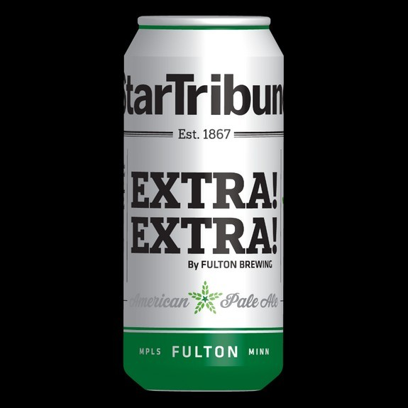 To celebrate the 150th anniversary of the Star Tribune, the Minneapolis brewery Fulton Brewing Co. launched a limited edition of its EXTRA! EXTRA! American Pale Ale.