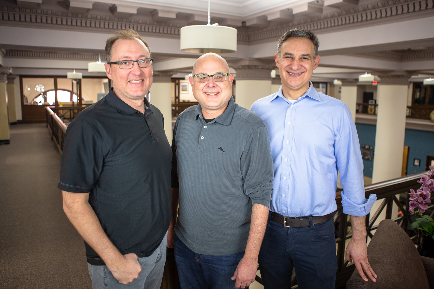 Niche Media founder, Carl Landau, (center) poses with Second Street co-founders, Doug Villhard (left) and Matt Coen.