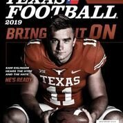 The front cover of the 2019 version of Dave Campbell's Texas Football magazine.