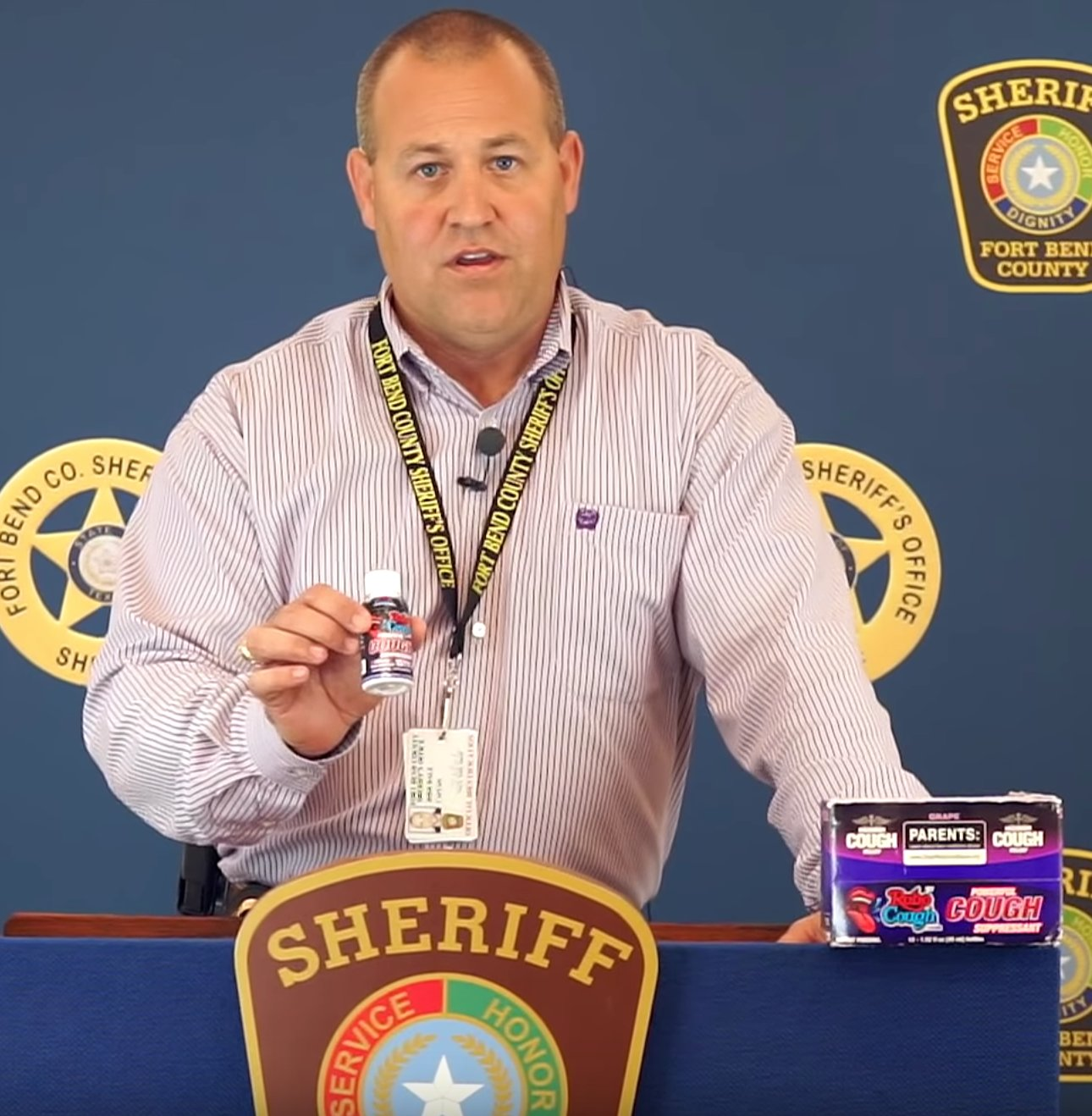 Josh Dale of the Fort Bend County Narcotics Task Force discusses the dangers of the over-the-counter drug Robo Cough.