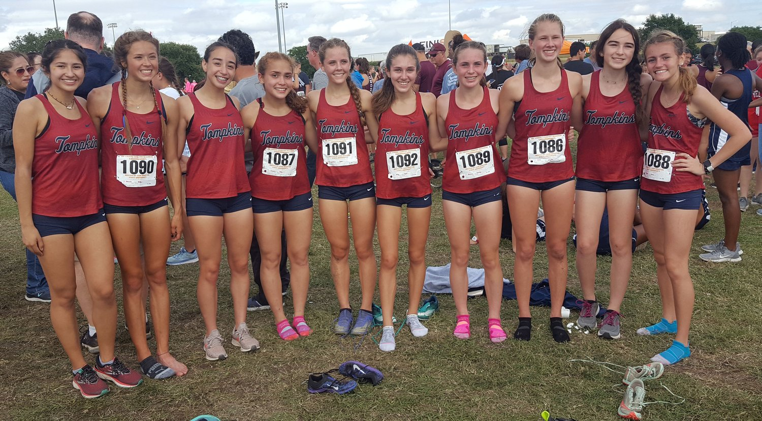 Tompkins girls: From left to right, Angelica Juarez, Addison Stevenson, Maria Giler, Paula Guevera, Sophia Welkener, Katie Wiley, Courtney Richman, Hayden Gold, Marisa Marinchak and Laura Orgeron.