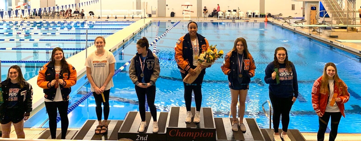 Seven Lakes senior Summer Taylor won her second straight Region V-6A diving championship and is headed to state for the fourth straight year.