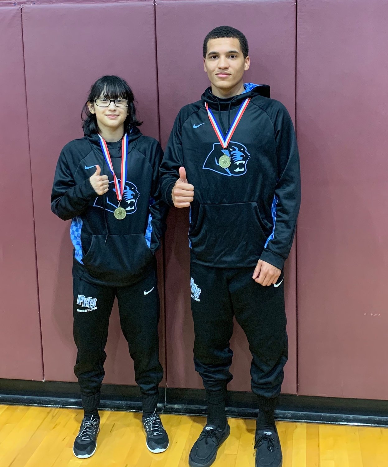 Paetow's Brittney Galindo and Josiah Bernhardt won district titles at the District 11-5A meet on Feb. 5.