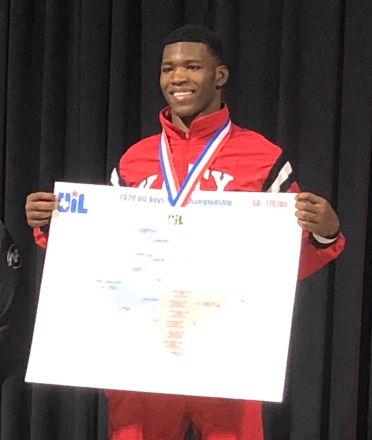 Katy High senior Kishawn Higgins repeated as champion in his 170-pound class at the UIL Class 6A state tournament on Feb. 22 and closed his brilliant senior season with a 54-1 overall record.