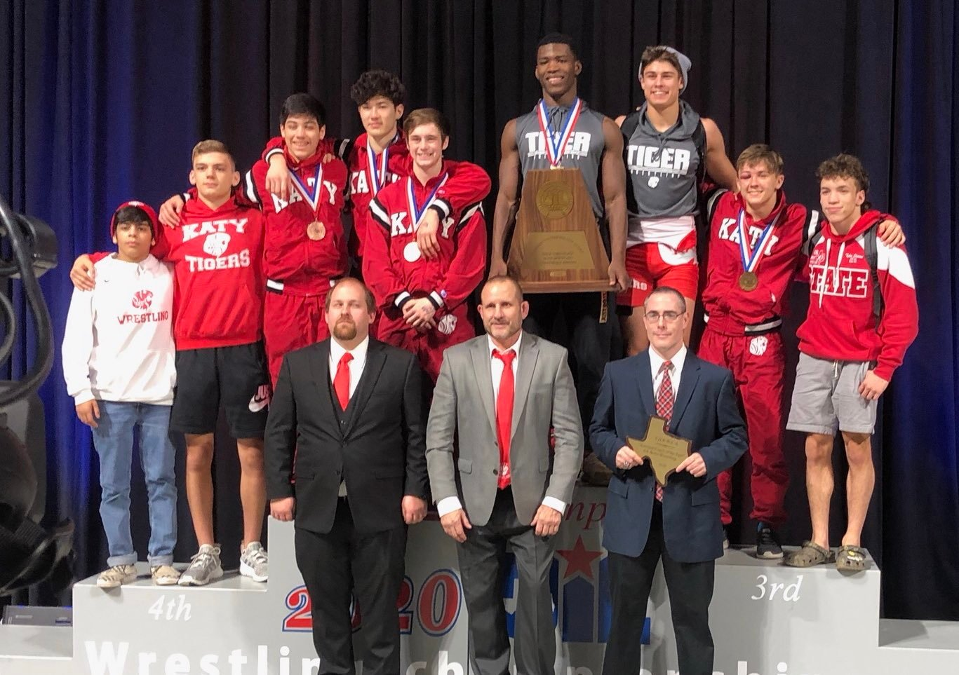 Katy High's boys finished third overall at the UIL Class 6A state tournament on Feb. 22, scoring 94 points.