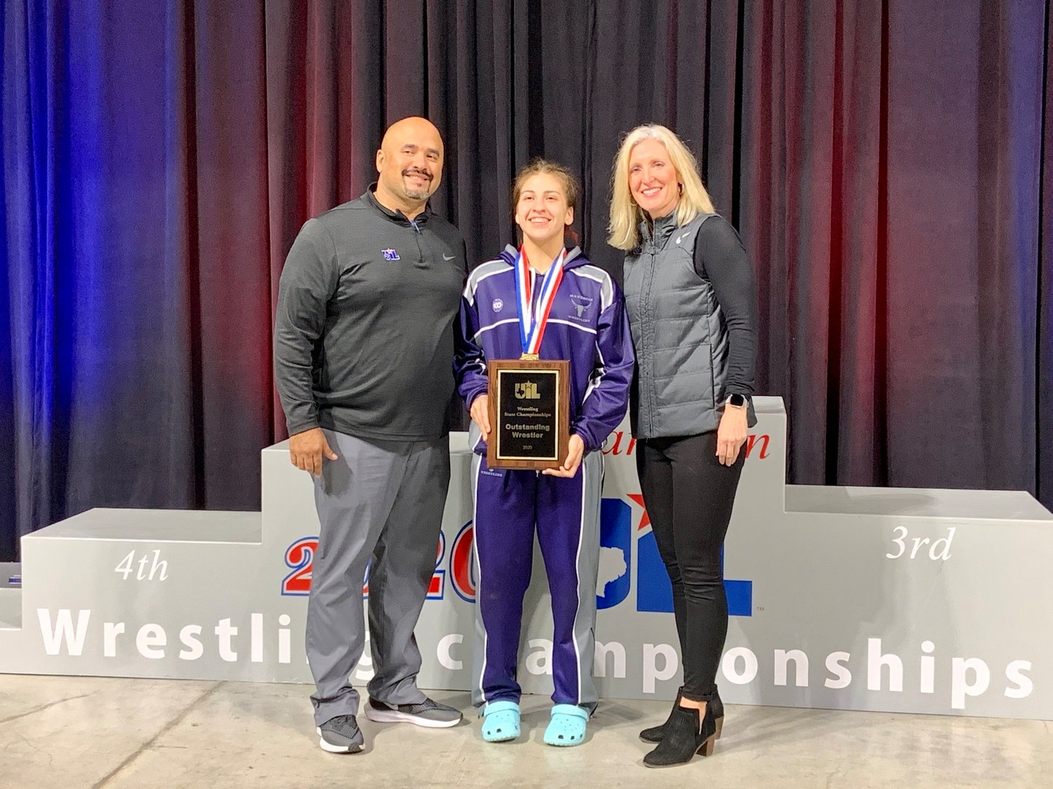 Morton Ranch senior Jordan Suarez won the 138-pound state championship and was named the state tournament's Female Wrestler of the Meet at the UIL Class 6A wrestling tournament on Feb. 22 at the Berry Center in Cypress.