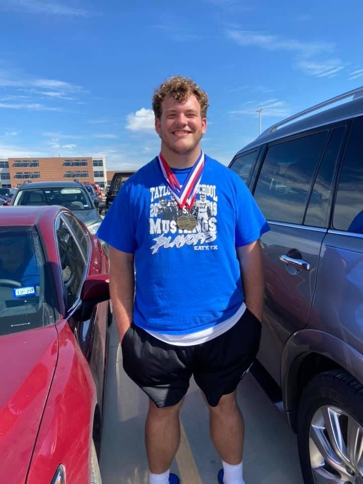 "Taylor junior Bryce Foster set a meet record in the discus with a throw of 198'-0 ½"" to improve on his national-best mark in the event."
