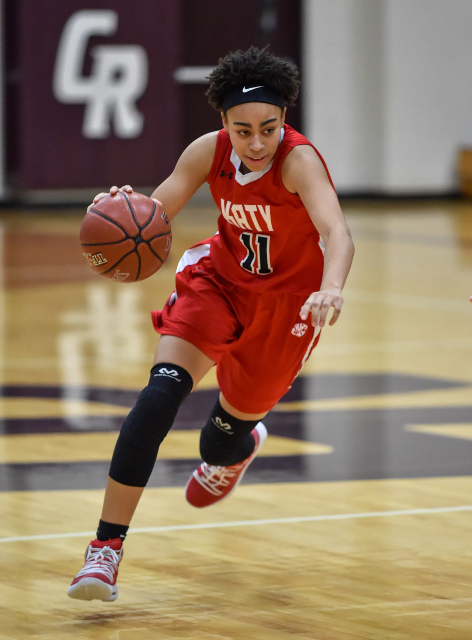 Katy senior guard Allana Thompson averaged 19 points and eight rebounds in helping lead the Tigers to a playoff berth.