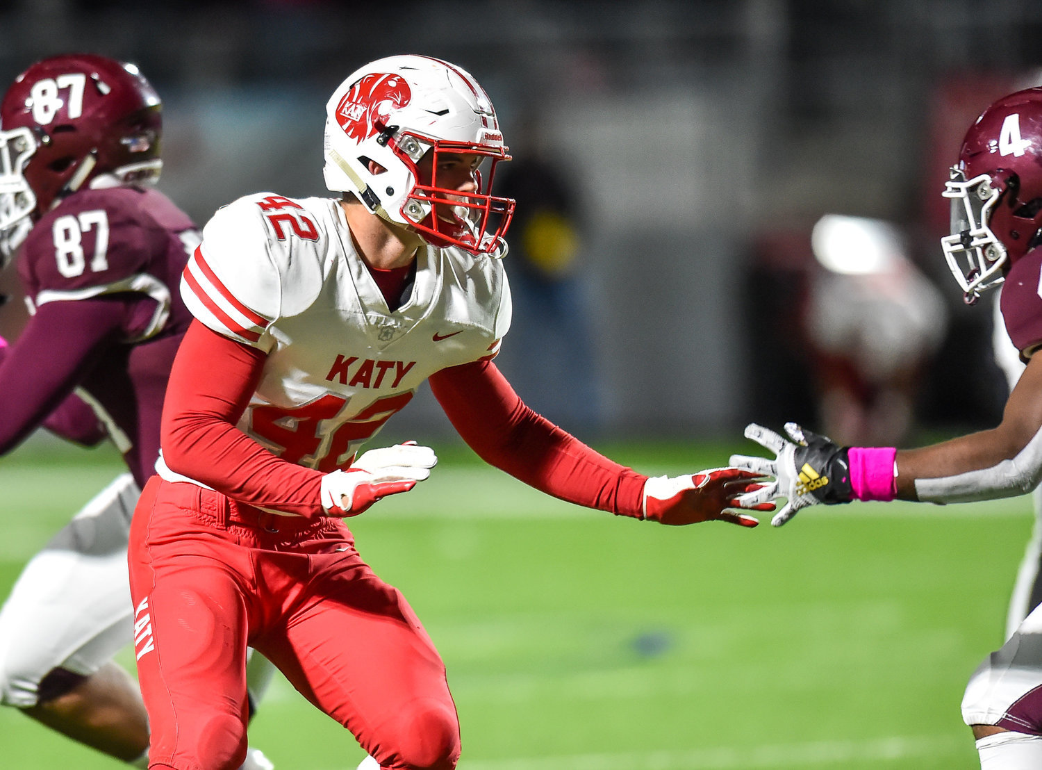 Hunter Washington suits up for his final season for Katy as a Florida State commit and was one of three Tiger defenders on MaxPreps' preseason all-state team.