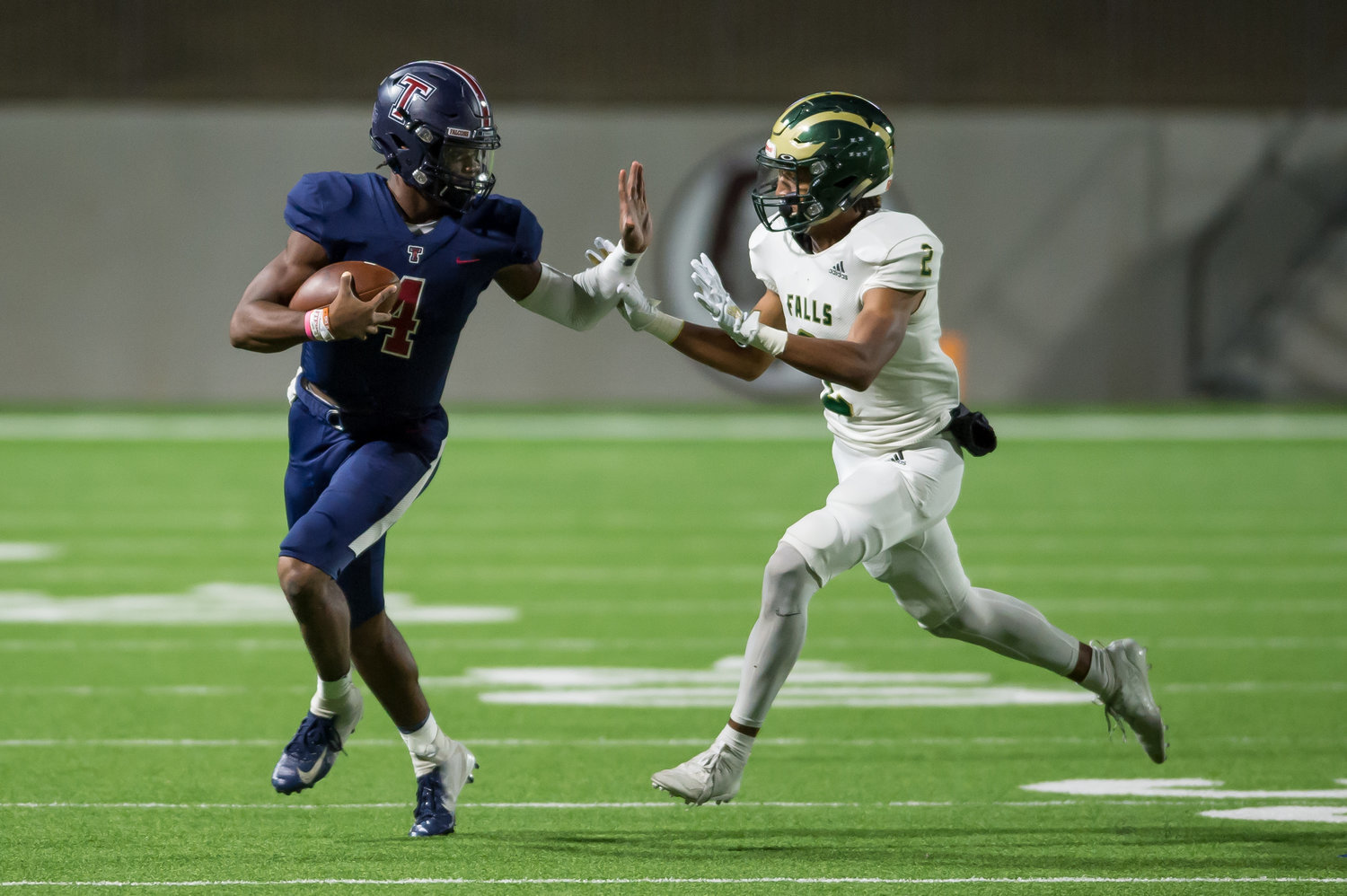 Jalen Milroe said he put in the work in the offseason to prepare himself for his final season for the Tomkins Falcons as starting quarterback. Recently named to MaxPreps' preseason all-state team, Milroe is committed to play for the Texas Longhorns next year.