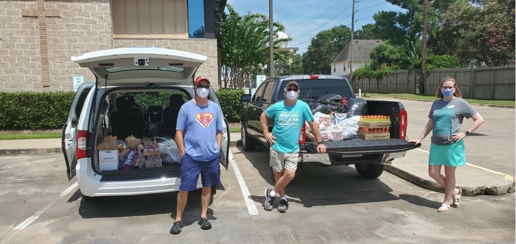 St. Peter's volunteers after collecting donations for Hope Impacts, a Katy area nonprofit that provides support to people experiencing homelessness.