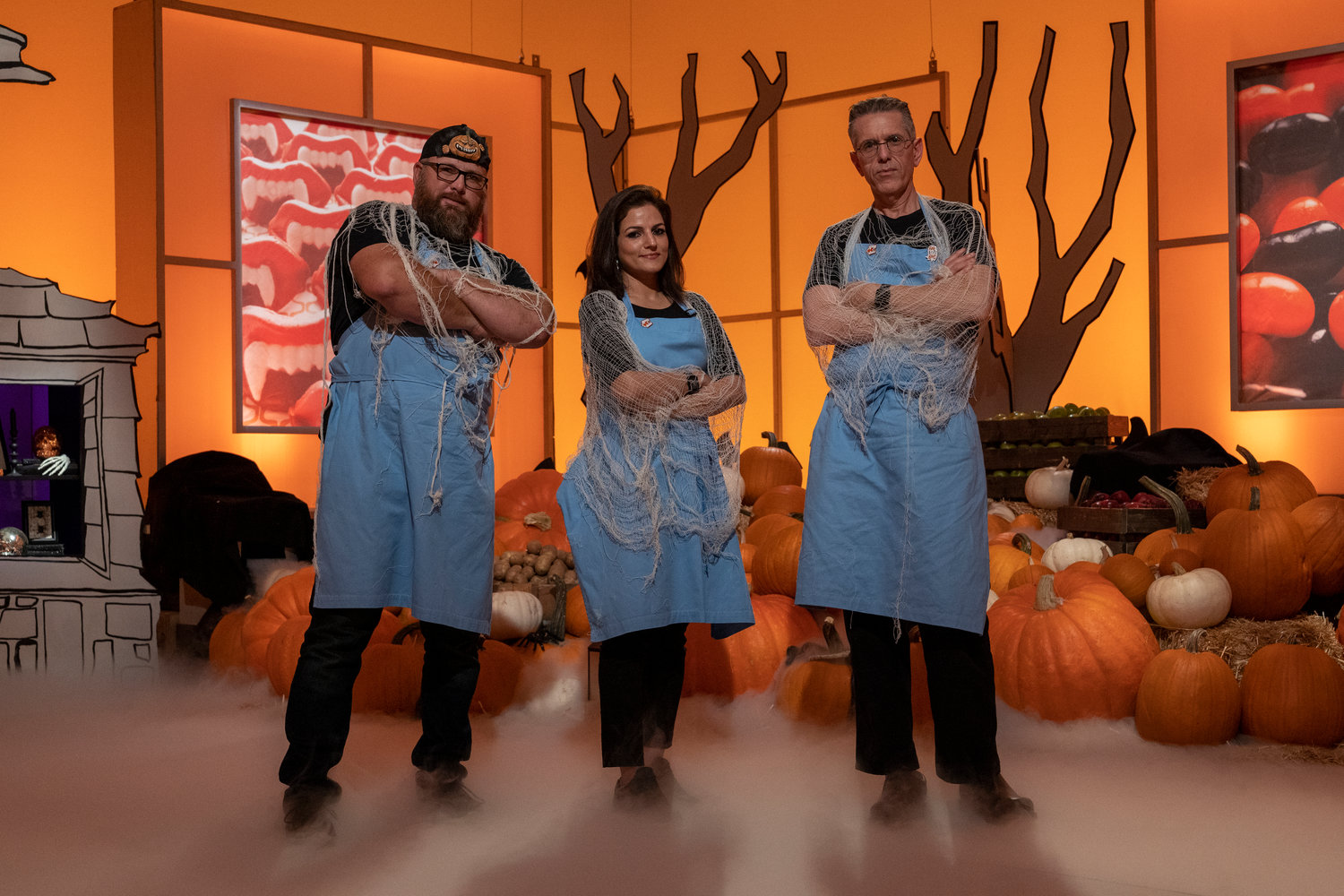 Hemu Basu (center) poses with her Mummies Rejects teammates Daniel Miller (left) and Steve Weiss (right). While Basu could not divulge the results of the show due to agreements with Food Network, she did say she was very proud of how her team performed.