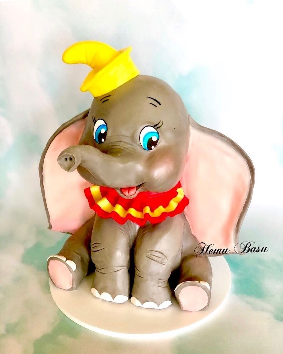 "Children's cakes can include famous figures such as Disney's ""Dumbo."""