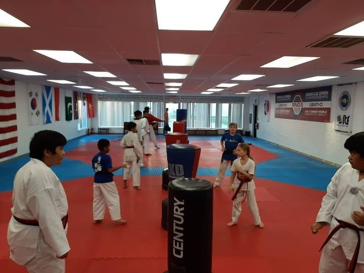 A martial arts studio dedicated to Taekwondo is referred to as a dojang. Rock Solid offers enough space in its dojang to allow students to spread out while working out.