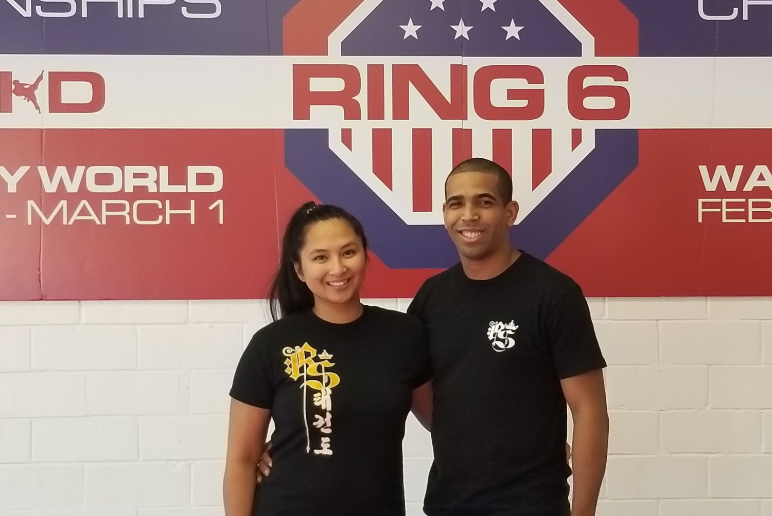 Joseph Santarose (right) and his wife Erika Erica (left) are the owner-operators of Rock Solid Martial Arts in Old Town Katy. Erica kept her maiden name when the pair got married because she thought it was a fun part of her personality that she didn't want to lose.
