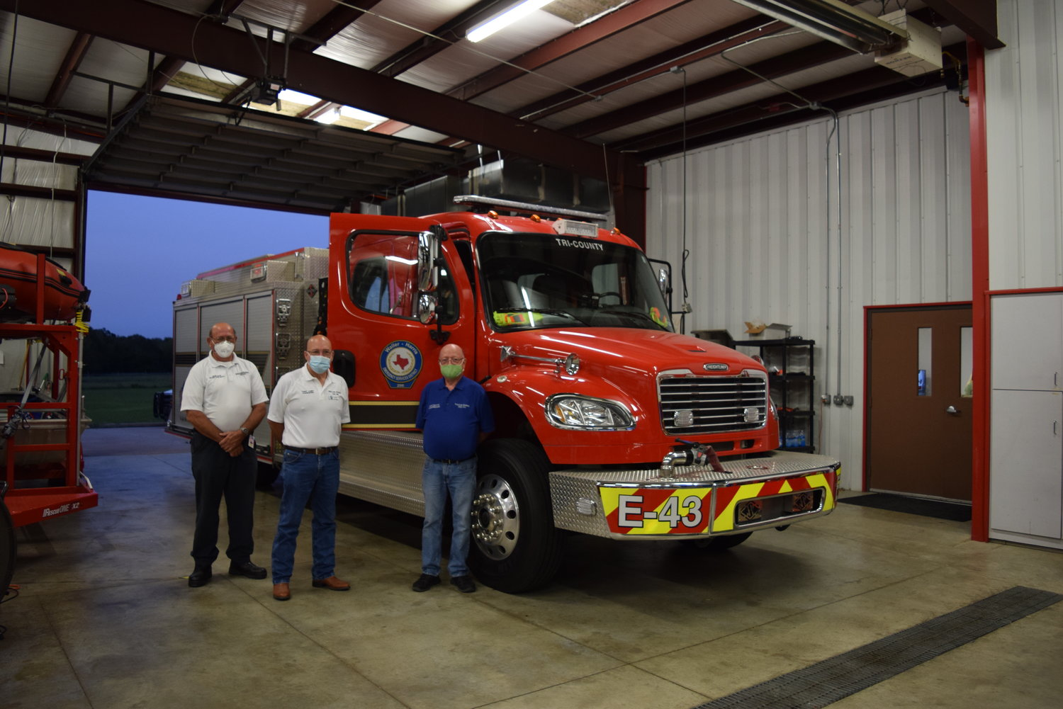 WHESD 200 commissioners (from left to right) Jimmie Orsak, Tommy Albert and Rick Dalton say the district needs additional fire equipment like the nearby fire truck as well as ambulances in order to meet the needs of its residents and visitors to the district.