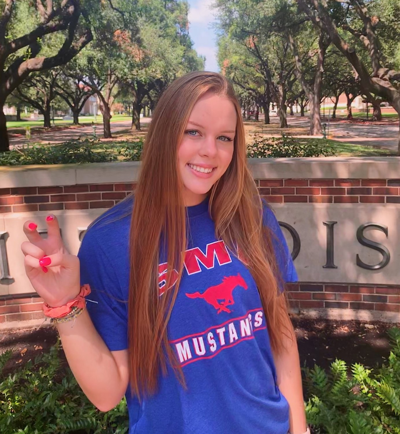 Seven Lakes junior setter Casey Batenhorst verbally committed to continue her volleyball career at SMU on Sept. 10.