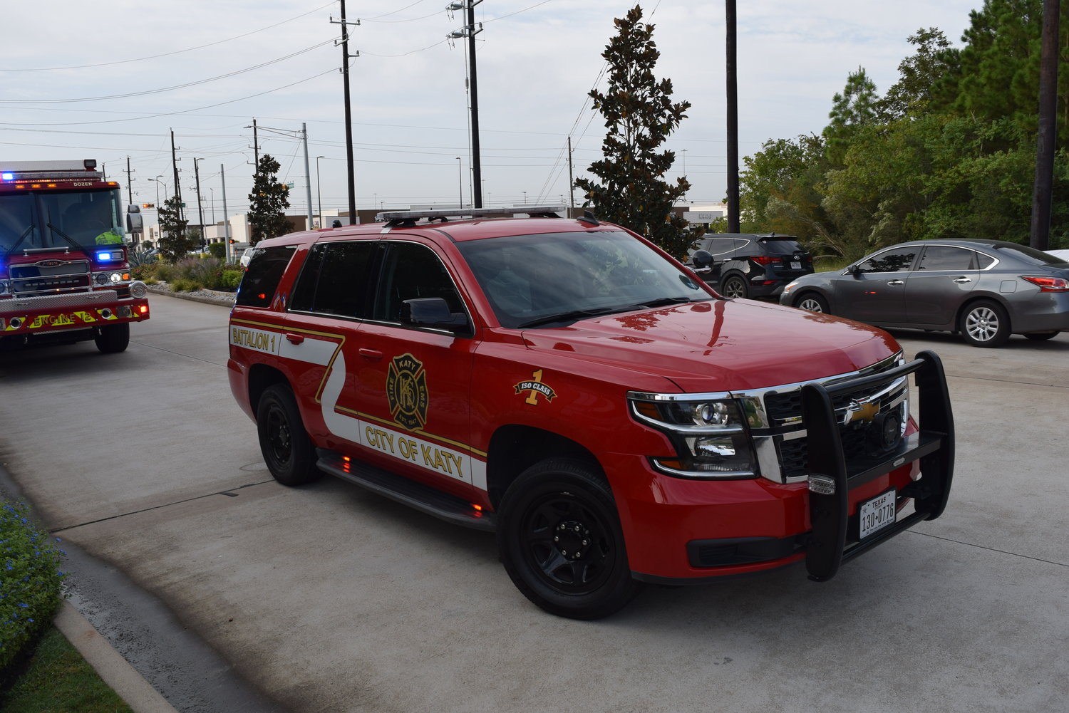 The city of Katy Fire Department was one of several departments to assist Harris County ESD 48 at the scene.