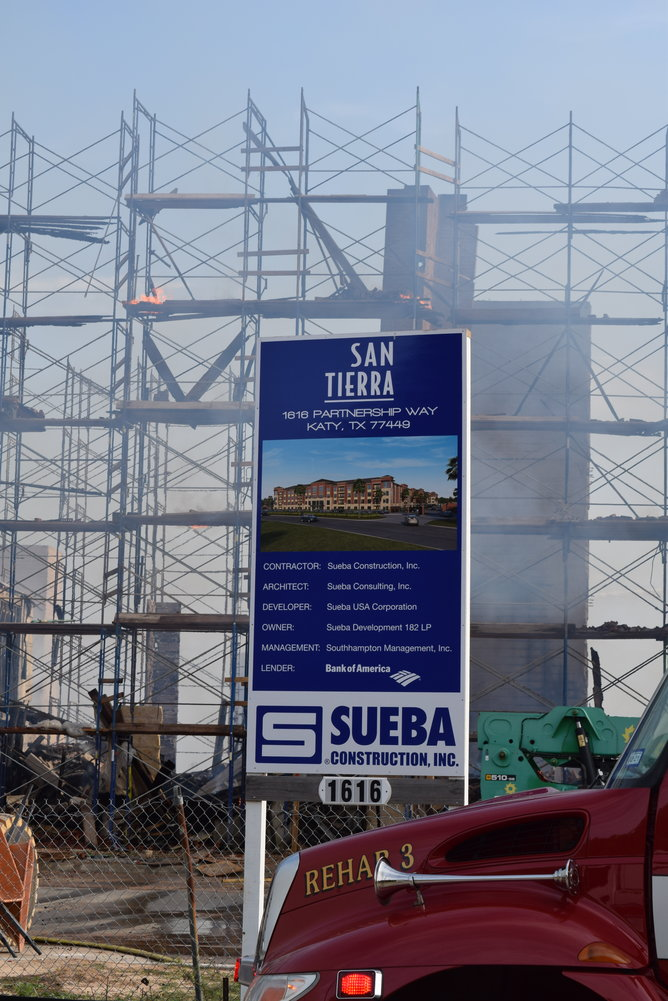 Sueba Construction, Inc., the builder that has been constructing the new complex declined to make a statement about the fire because an investigation was still ongoing.