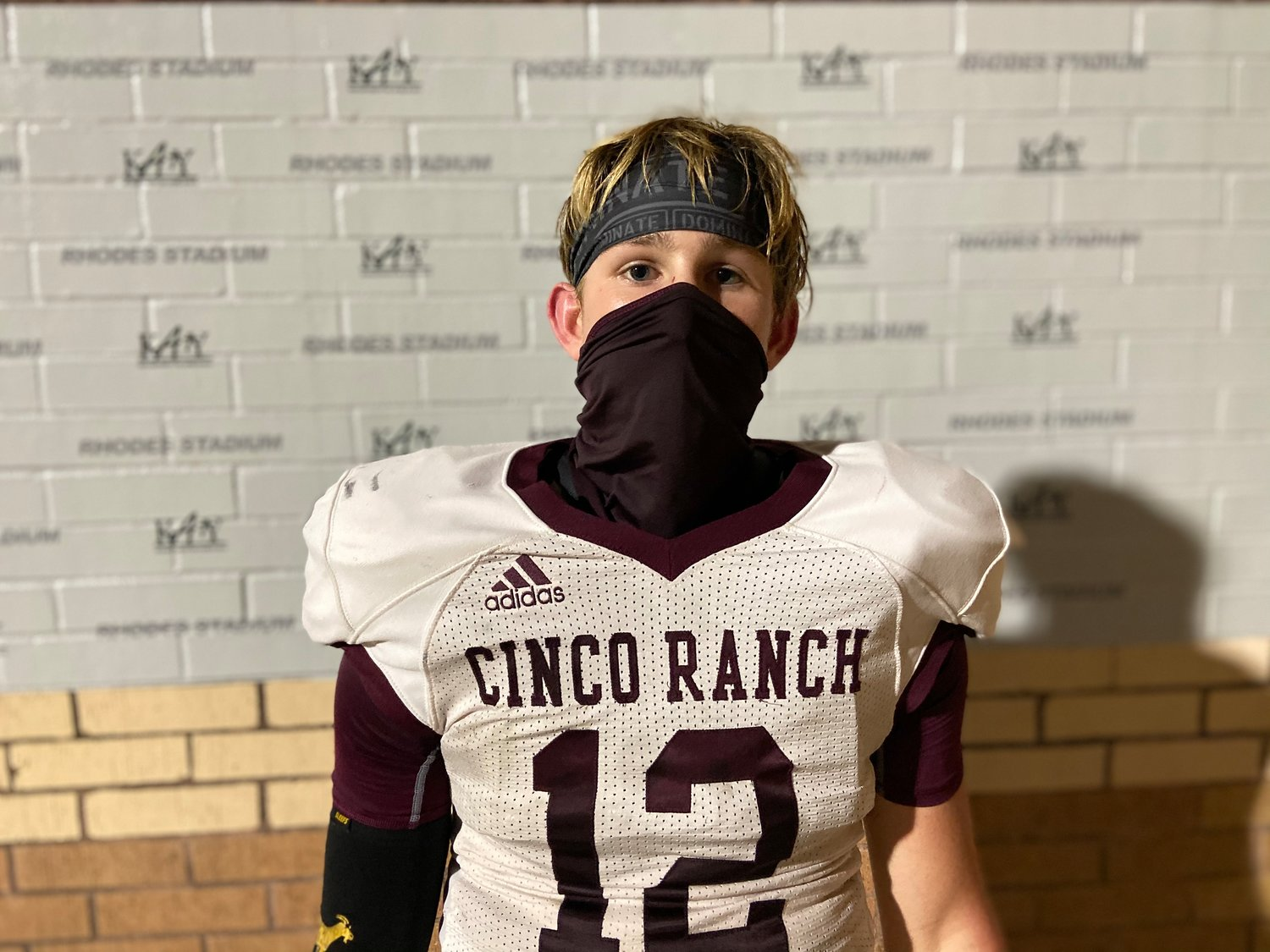 Cinco Ranch sophomore quarterback Gavin Rutherford threw for 200 yards and three touchdowns to help the Cougars snap a 14-game losing streak in beating Mayde Creek on Oct. 16 at Rhodes Stadium.