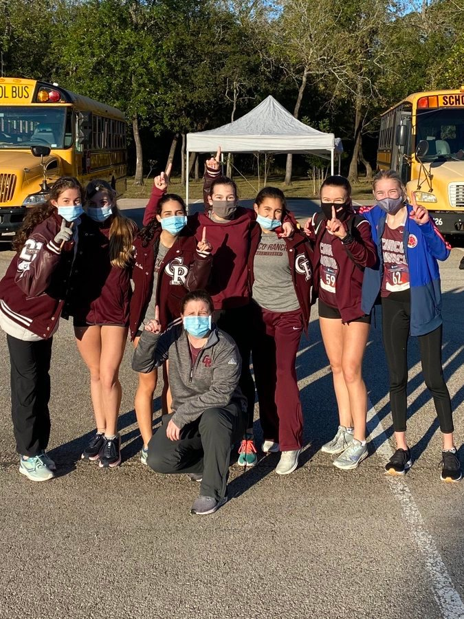 Cinco Ranch's girls cross country team won the district 19-6A championship Friday morning at Bear Creek Park.