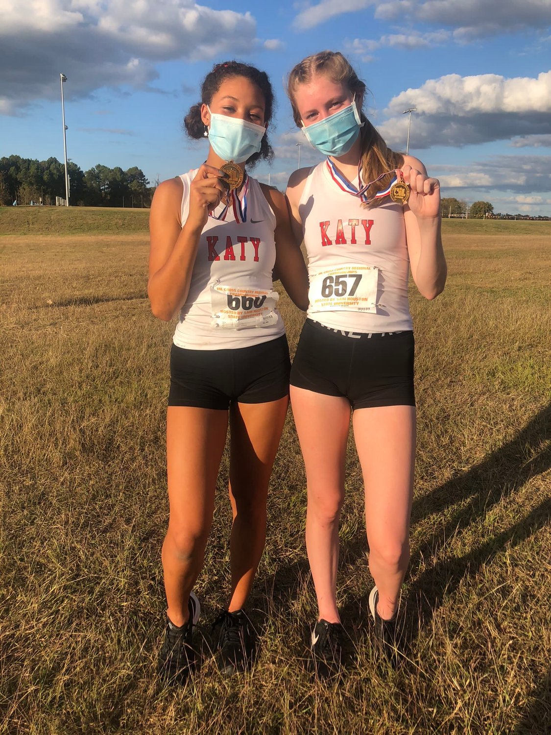 Katy High's Isabella Rubio and Maddy Hunter finished third and 10th, respectively, at the Region III-6A cross country championships on Tuesday to qualify for the state meet later this month.
