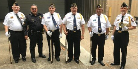 American Legion Post 164 hosts and honor guard in conjunction with Katy VFW Post 9182. Members participate in formal ceremonies honoring veterans, military members and other civic events.