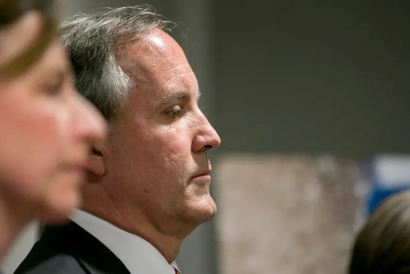 Texas Attorney General Ken Paxton during a press conference in 2017. 