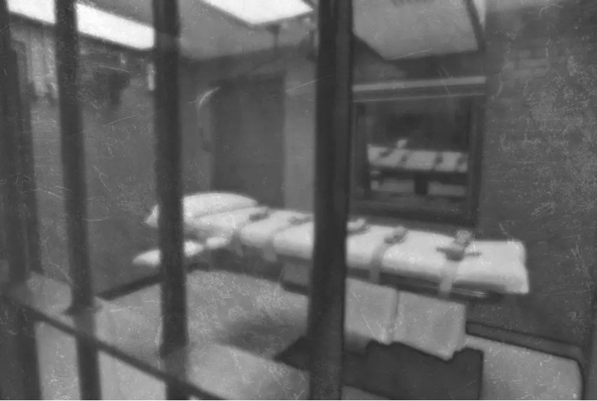 The inside of Texas' execution chamber.