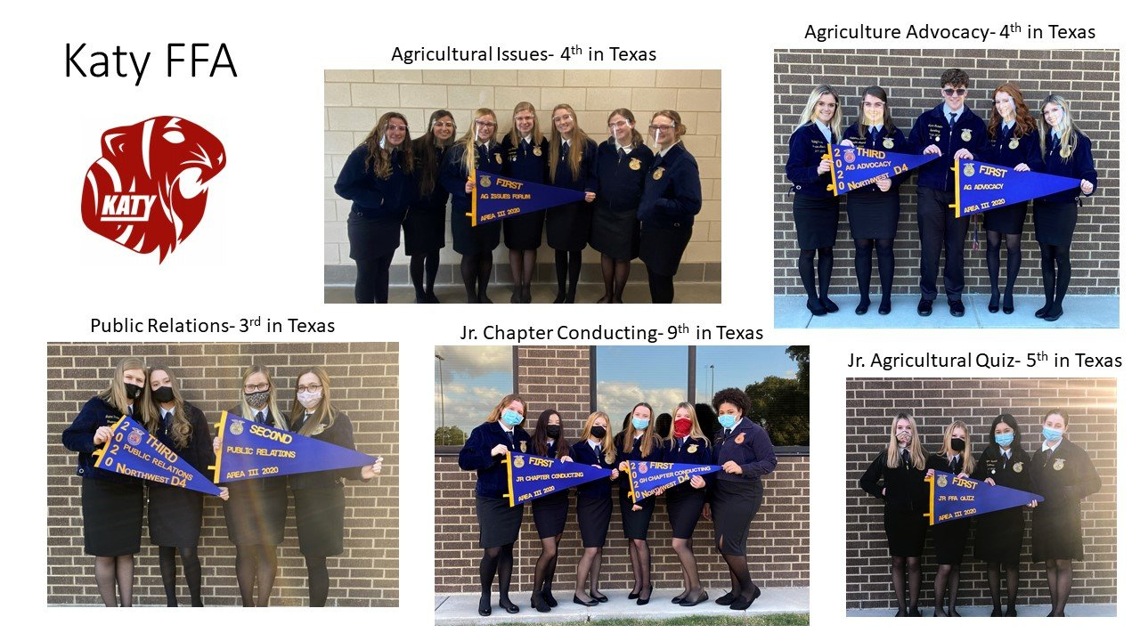 Katy High School state FFA contest.