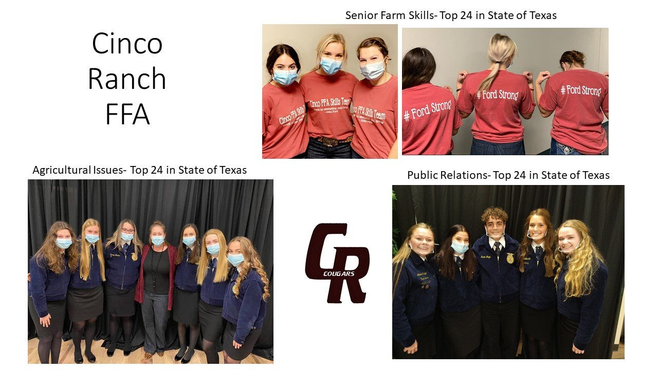 Cinco Ranch state FFA contest.