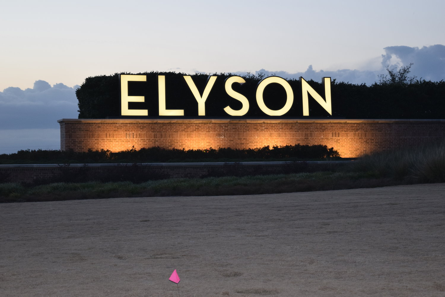The Elyson master planned community in the northeastern portion of the Katy area continues to expand with additional homes coming to the area north of FM 529 later this year. Behind this sign, land is being prepared for homesites to be built.