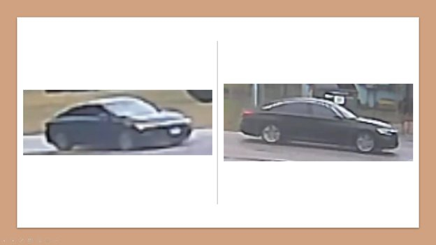 WCSO suspects that the two culprits in the robbery got away in this sedan with chrome trim that is suspected to be an aftermarket addition to the vehicle. It is similar in build to a Chrysler 200, but may be another vehicle brand.