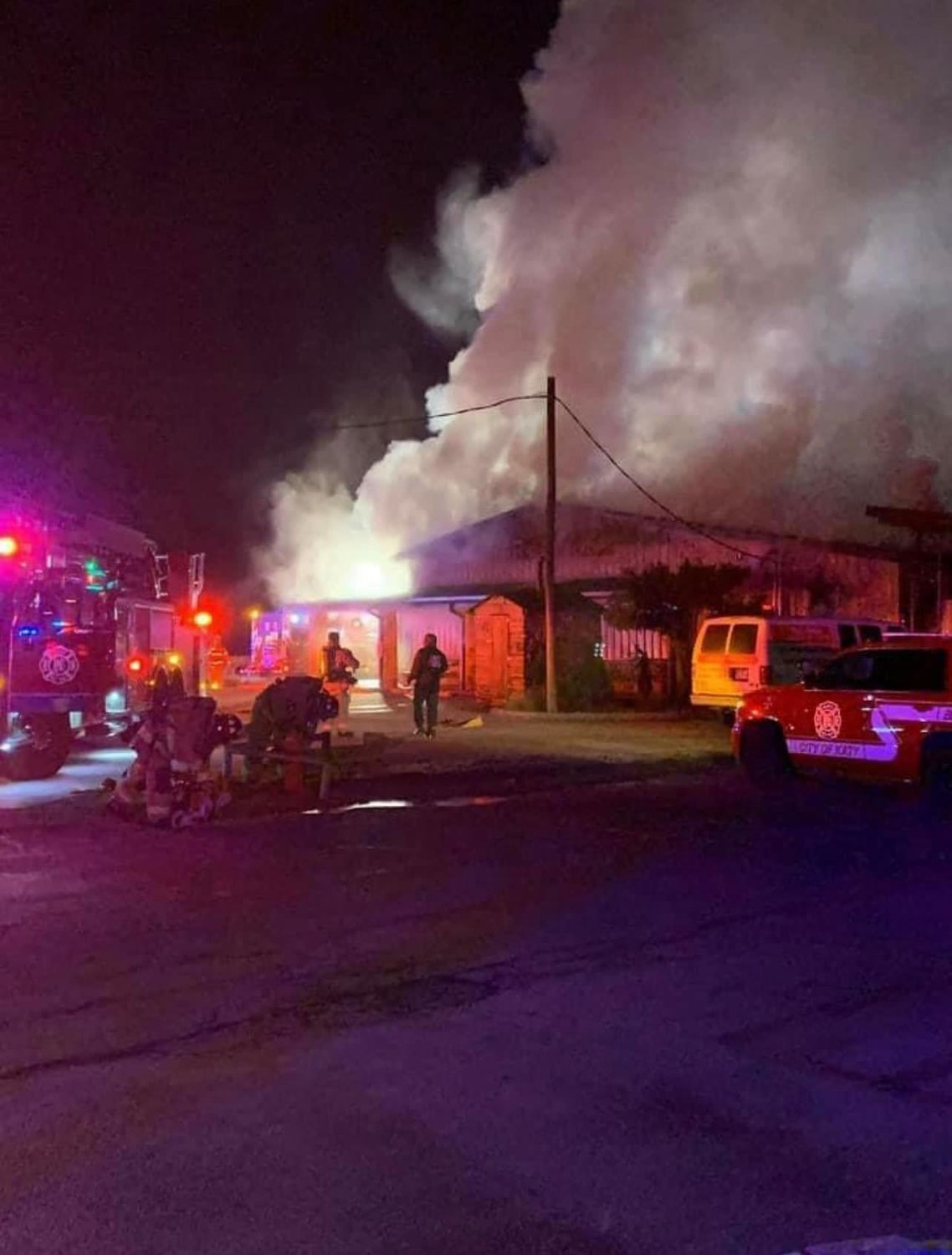 Multiple fire departments worked in tandem to fight the Midway BBQ fire, but damage was still severe. No firefighters or civilians were injured in the blaze.