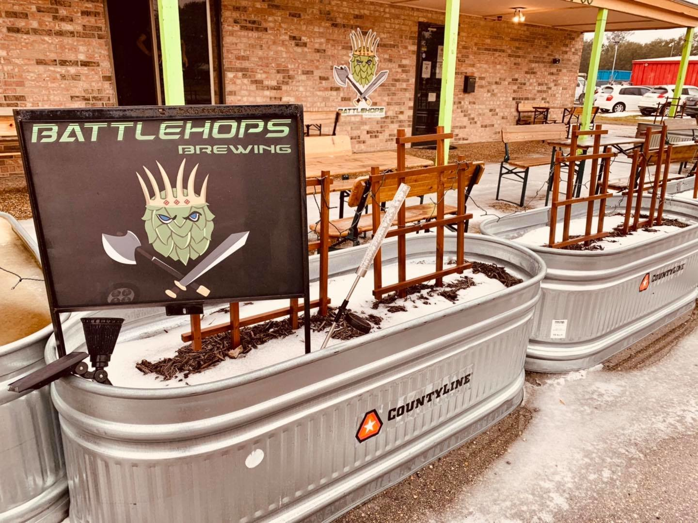 Battlehops Brewery was able to keep water running and provided water to the public as it became apparent many residents had lost water service due to burst pipes.