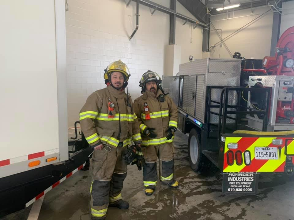 The Hempstead Volunteer Fire Department helped provide water to the Waller County Justice Center, which includes the Waller County Jail, after water service was shut down at that facility due to the weather.
