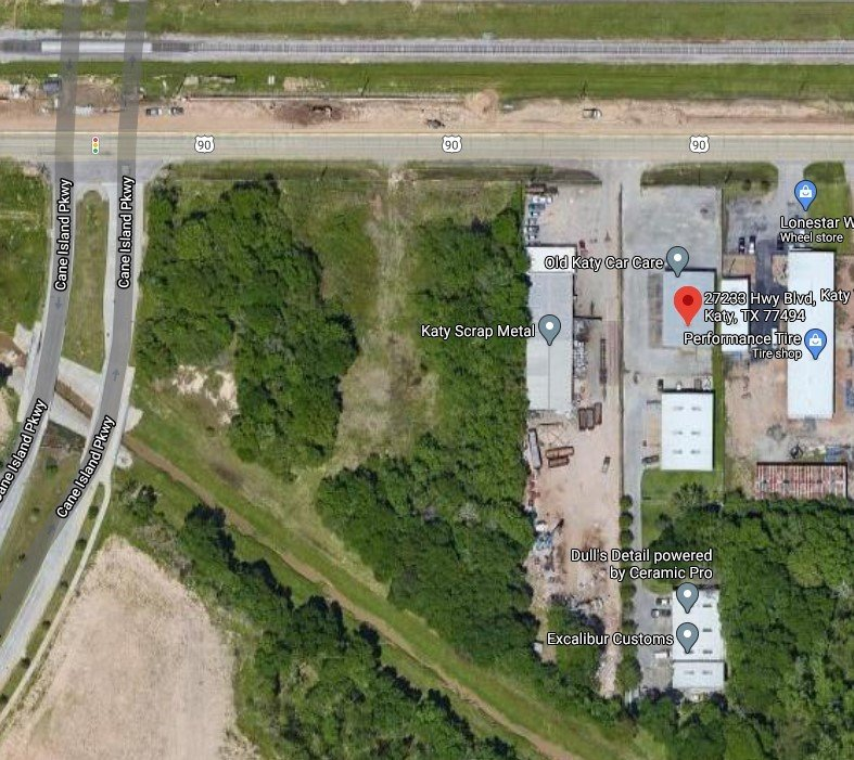 Katy Scrap Metal is located on the western side of Katy near the intersection of Hwy. 90 and Cane Island Parkway. Noise and debris from the facility have reportedly been disruptive to operations at multiple neighboring businesses, according to the landlord of the neighboring three buildings.