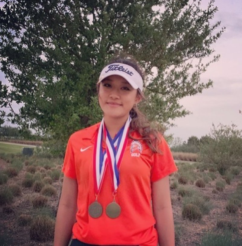Seven Lakes senior Lauren Nguyen won the District 19-6A girls individual golf title with a two-day score of 147.