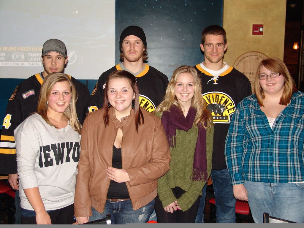 Local Residents Meet Providence Bruins Players Reporter Today