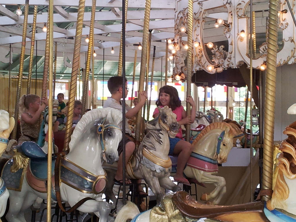 Riding the Carousel Summer of 2013.
