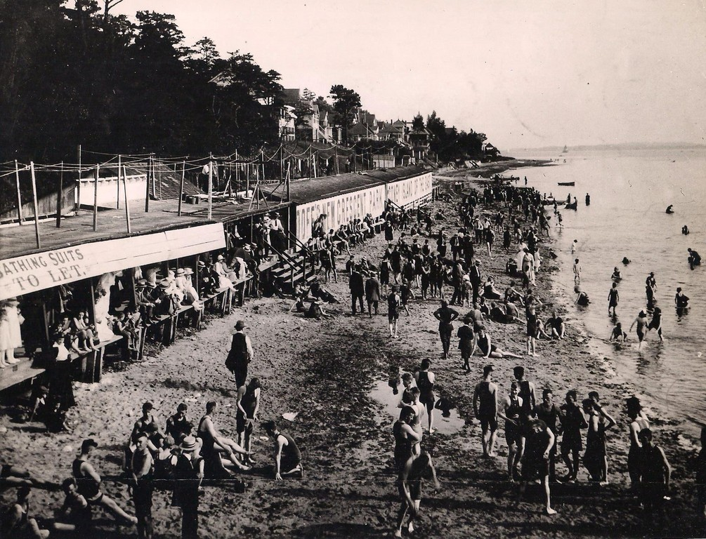 Swimming was popular at Crescent Park.