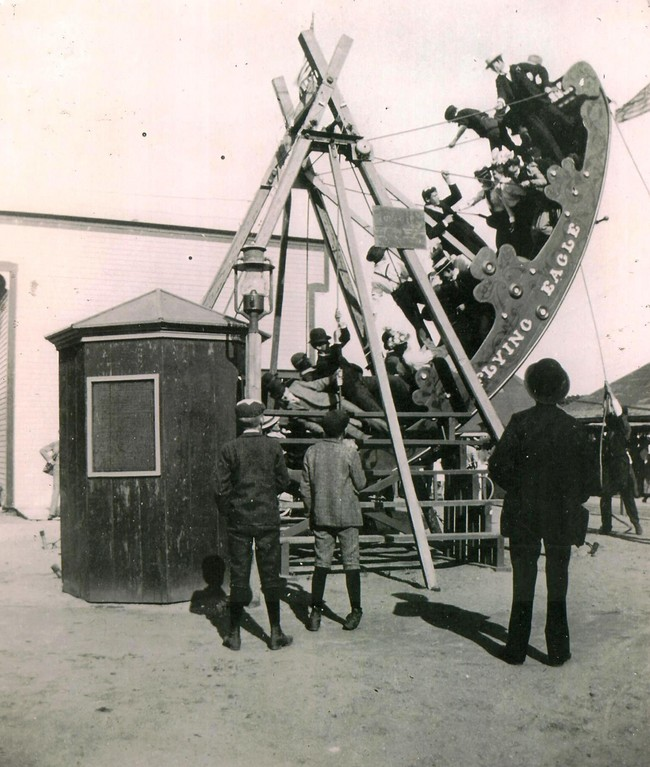 Crescent Park's Flying Eagle from the 1920's