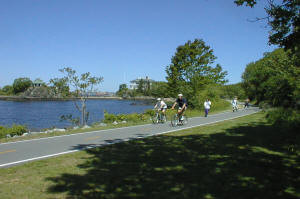 Part of the East Bay Bike Path in East Providence, RI.