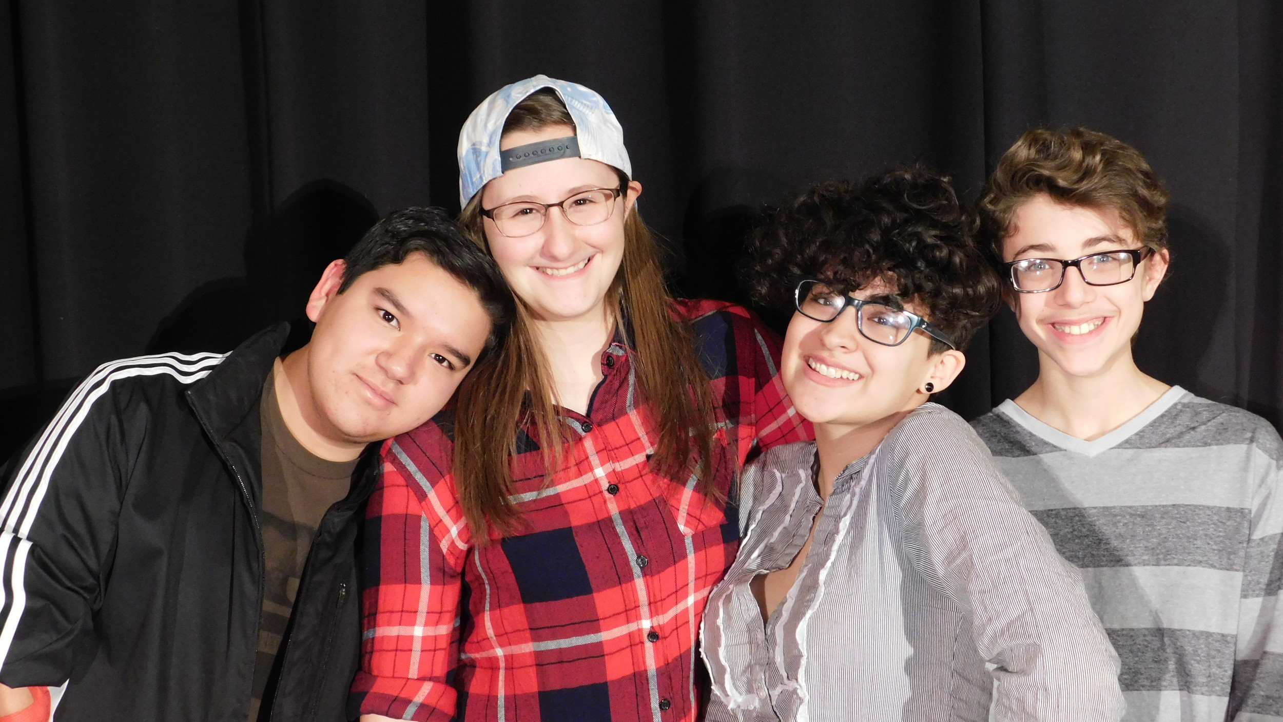Sergio Raposa, Kayla Harris, Jillian Aronhalt and Rocco Wolfe of the MMS Theatre group.