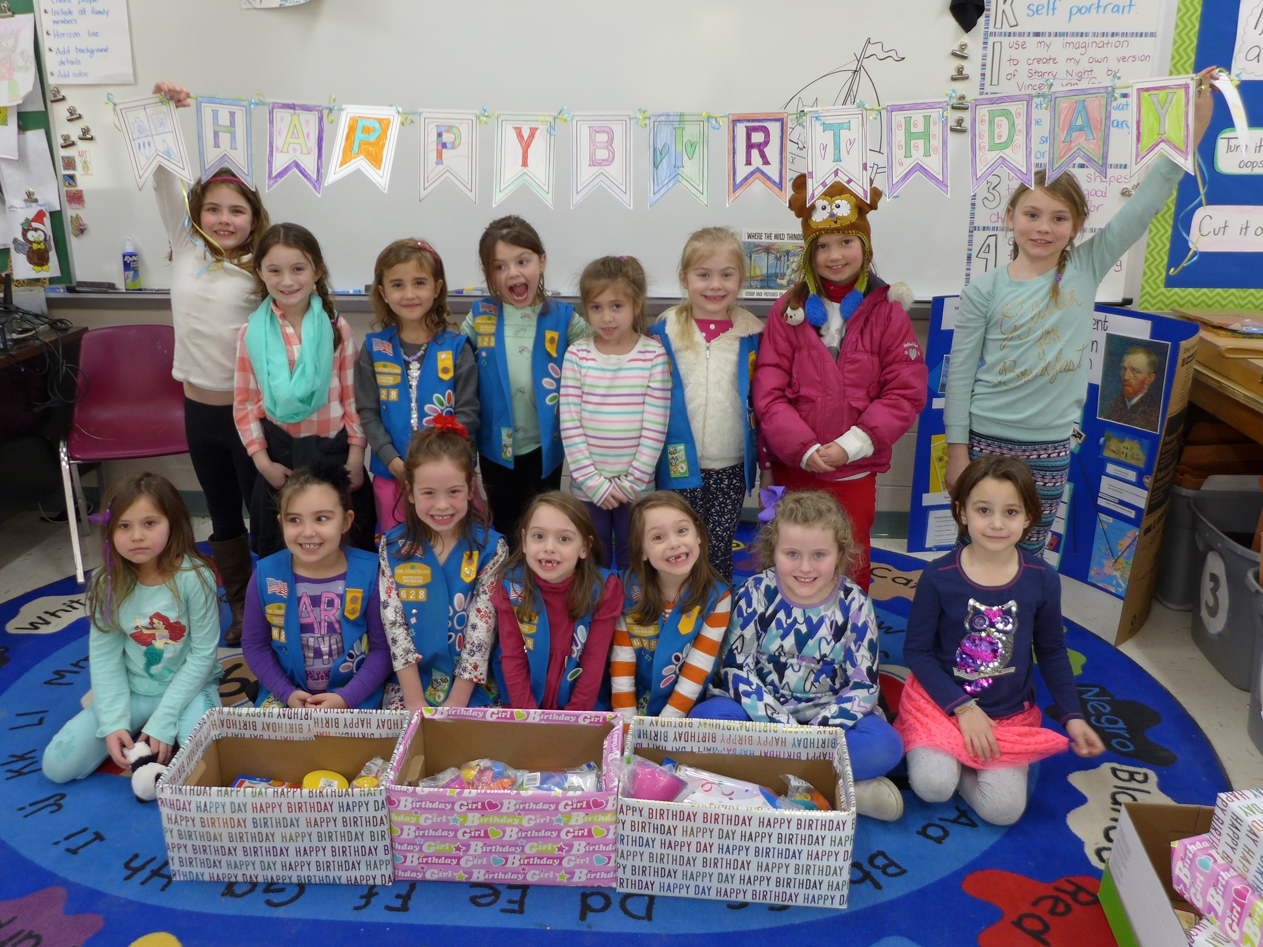 Rehoboth Girl Scout Daisy Troop 628 celebrate Girl Scout's 105th Birthday