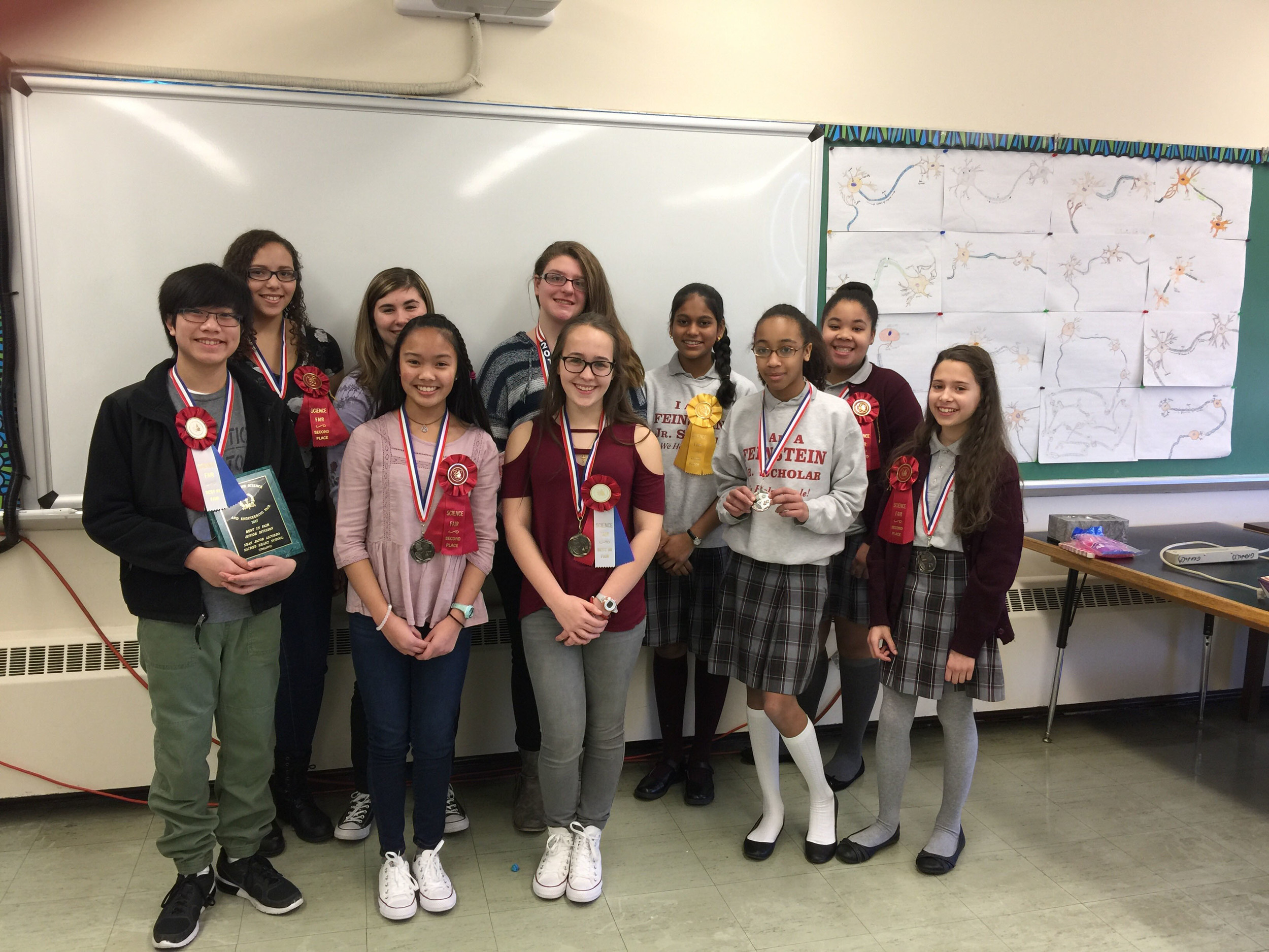 Students who attended the RI Science & Engineering Fair on March 18th.