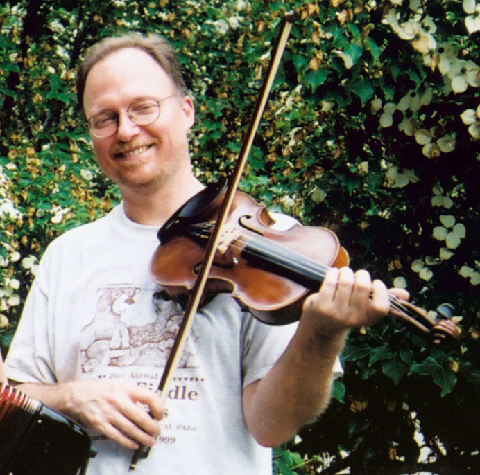 Dave Langford performs at the August 11 contra dance in Rehoboth